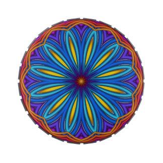 Decorative Starburst Medallion Candy Tin