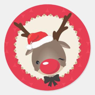 DECORATIVE STICKER SEAL :: reindeer