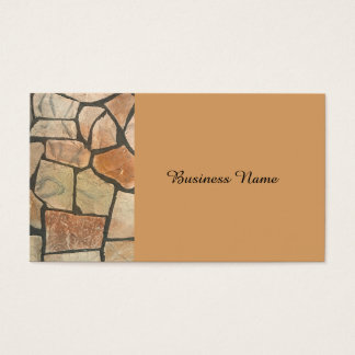 Decorative Stone Paving Look Business Card