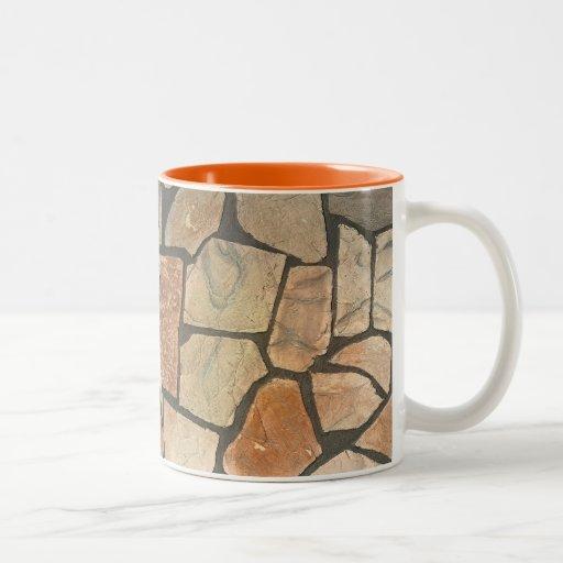 Decorative stone paving look coffee mug zazzle for Natural stone coffee mugs