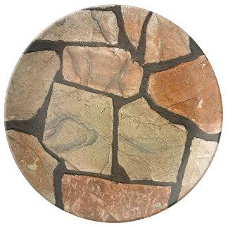 Decorative Stone Paving Look Dinner Plate