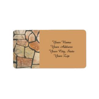 Decorative Stone Paving Look Label