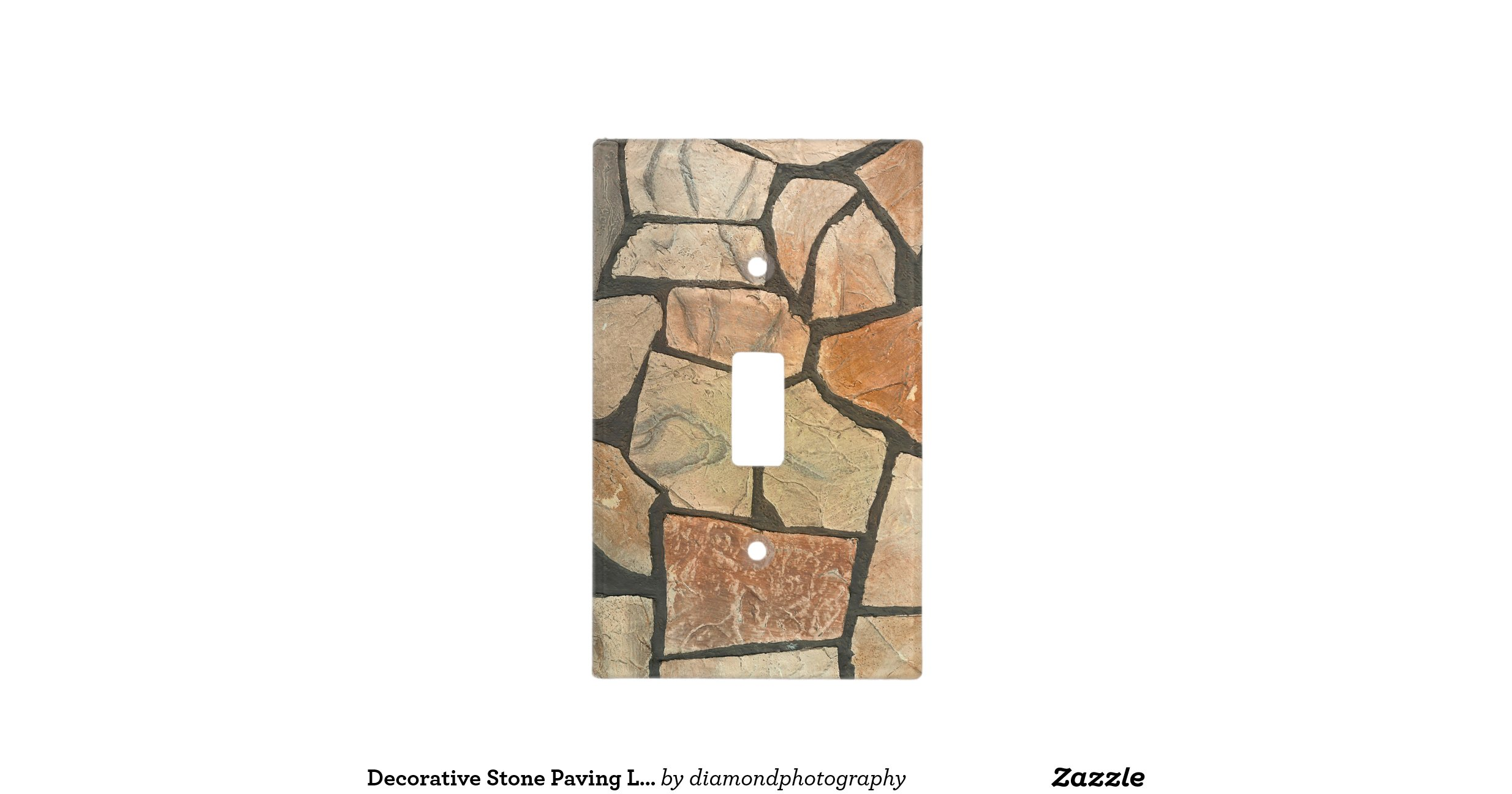 Decorative stone paving look light switch plates zazzle for Decor light switch