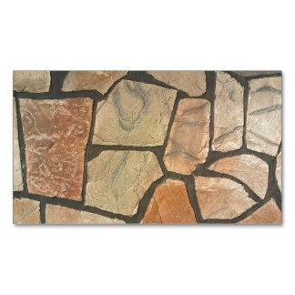 Decorative Stone Paving Look Magnetic Business Card