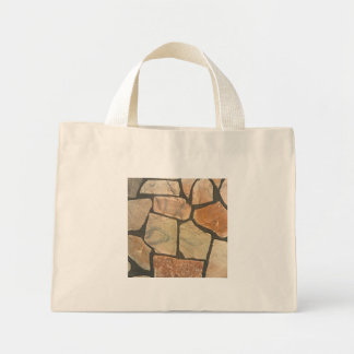 Decorative Stone Paving Look Mini Tote Bag