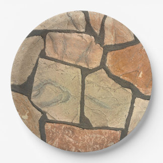 Decorative Stone Paving Look Paper Plate
