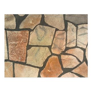 Decorative Stone Paving Look Postcard