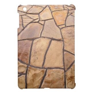 Decorative stone wall with wide angle fisheye view iPad mini covers