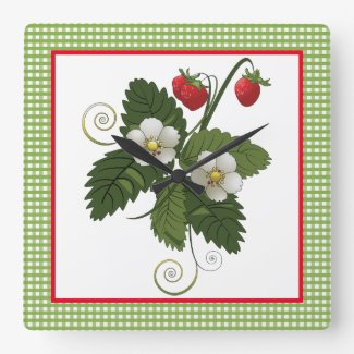 Decorative Strawberry Kitchen Wall Clock