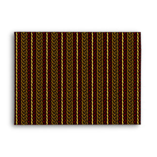 Decorative stripe envelope - brown/red - any style