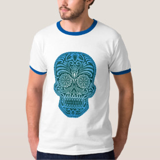 Decorative Sugar Skull - blue T-Shirt