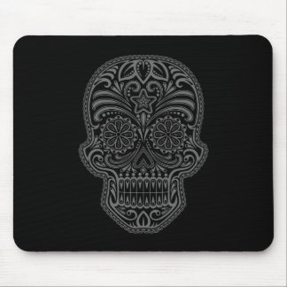 Decorative Sugar Skull - dark Mouse Pads