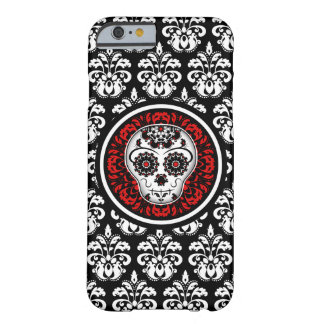 Decorative sugar skull with damask barely there iPhone 6 case