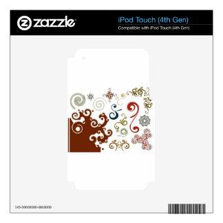 Decorative swirls design iPod touch 4G skins