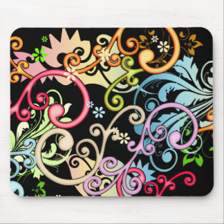 Decorative Swirls Mouse Pad