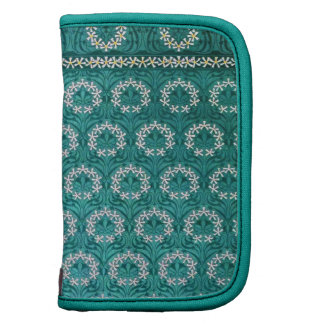 Decorative Teal Flower Textile Organizers