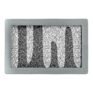 Decorative texture rectangular belt buckle