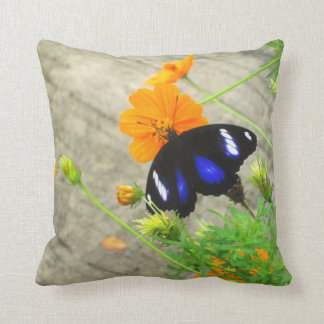Decorative Throw Pillow with Butterfly