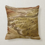 Decorative throw pillow with colorful dunes