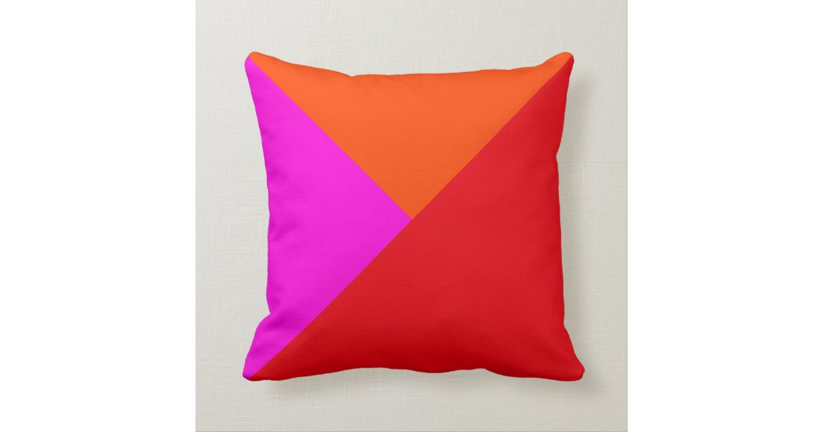 Red Dog Throw Pillows : Decorative Throw Pillows - Red, Pink and Orange Zazzle