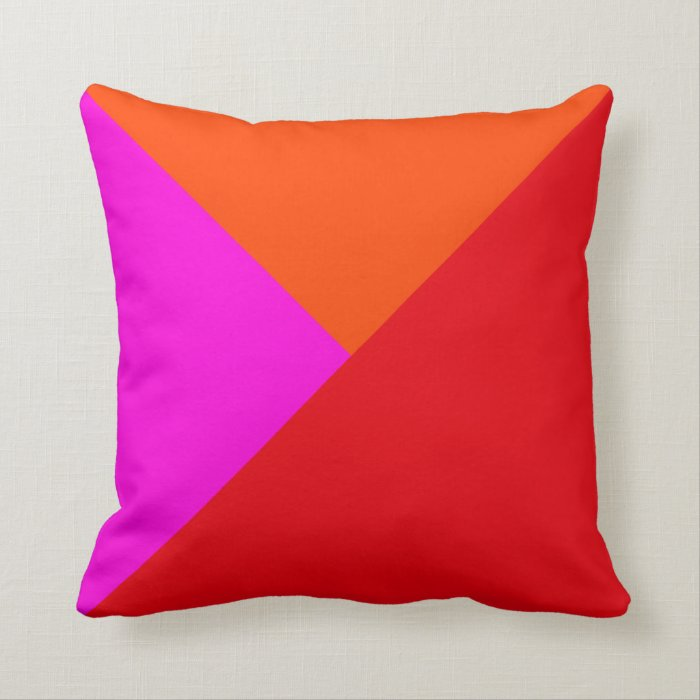 Decorative Throw Pillows - Red, Pink and Orange Zazzle