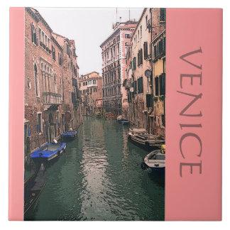 "DECORATIVE TILE /TRIVET ""VENICE CANAL"" (PHTOG)"