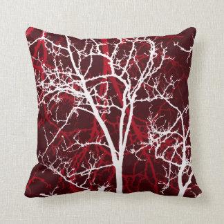decorative tree branches abstract throw pillow