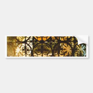 Decorative Typically Spanish Railings Bumper Sticker