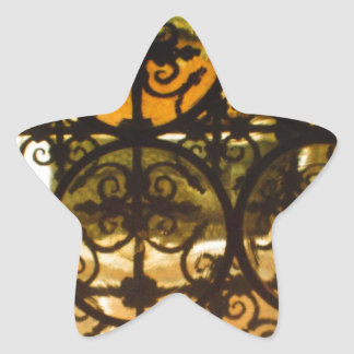 Decorative Typically Spanish Railings Star Sticker