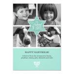 Decorative Typography Star of David Hanukkah Card Custom Announcement