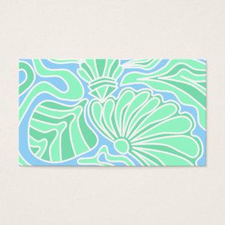 Decorative Underwater Themed Design. Business Card