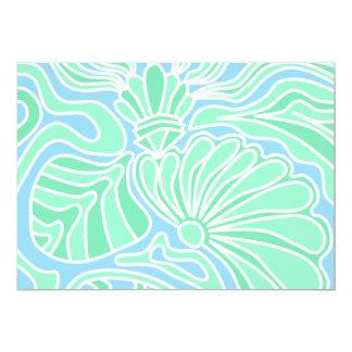 "Decorative Underwater Themed Design. 5"" X 7"" Invitation Card"