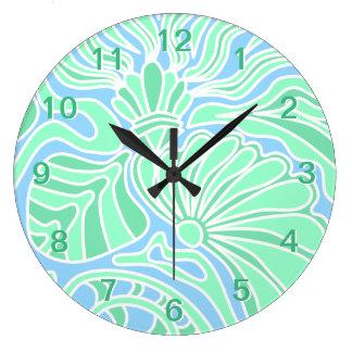 Decorative Underwater Themed Design. Large Clock