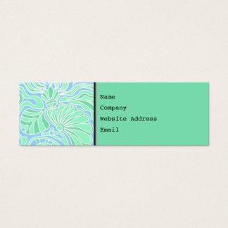 Decorative Underwater Themed Design. Mini Business Card