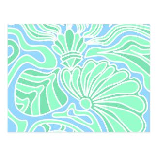 Decorative Underwater Themed Design. Postcard