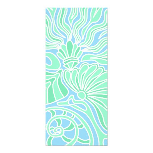 Decorative Underwater Themed Design. Rack Card Template
