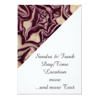 decorative vegetable invitation card