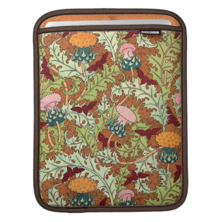 Decorative Vintage Botanical Floral iPad Sleeves