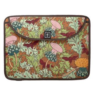 Decorative Vintage Botanical Floral MacBook Pro Sleeves