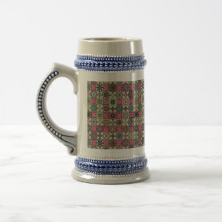 Decorative vintage colorful pattern with patchwork beer stein