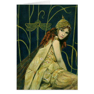 Decorative Vintage Nymph Greetings Card
