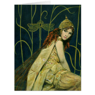Decorative Vintage Nymph Large Greetings Card
