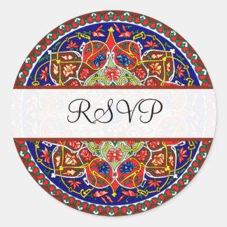 Decorative Vintage RSVP Stickers