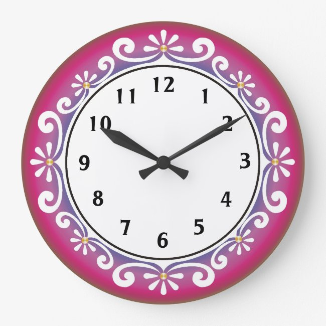 Decorative Wall Clock::Dark Pink