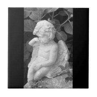 Decorative wall tile, cherub image ceramic tile