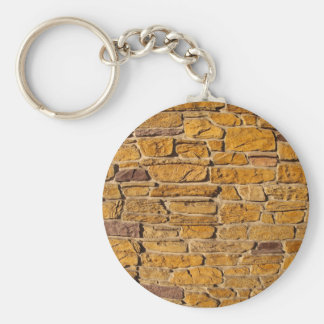 Decorative wall with wide angle fisheye view basic round button keychain