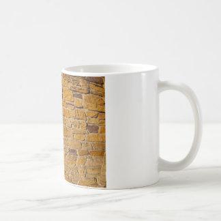 Decorative wall with wide angle fisheye view coffee mug