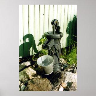 Decorative Water Pump Poster