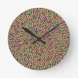 Decorative Wave Template DIY add Text Image Gifts Round Clocks