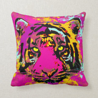 Decorative whimsy tiger throw pillow